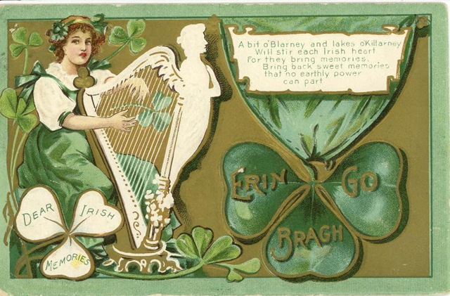 St Patrick's postcard